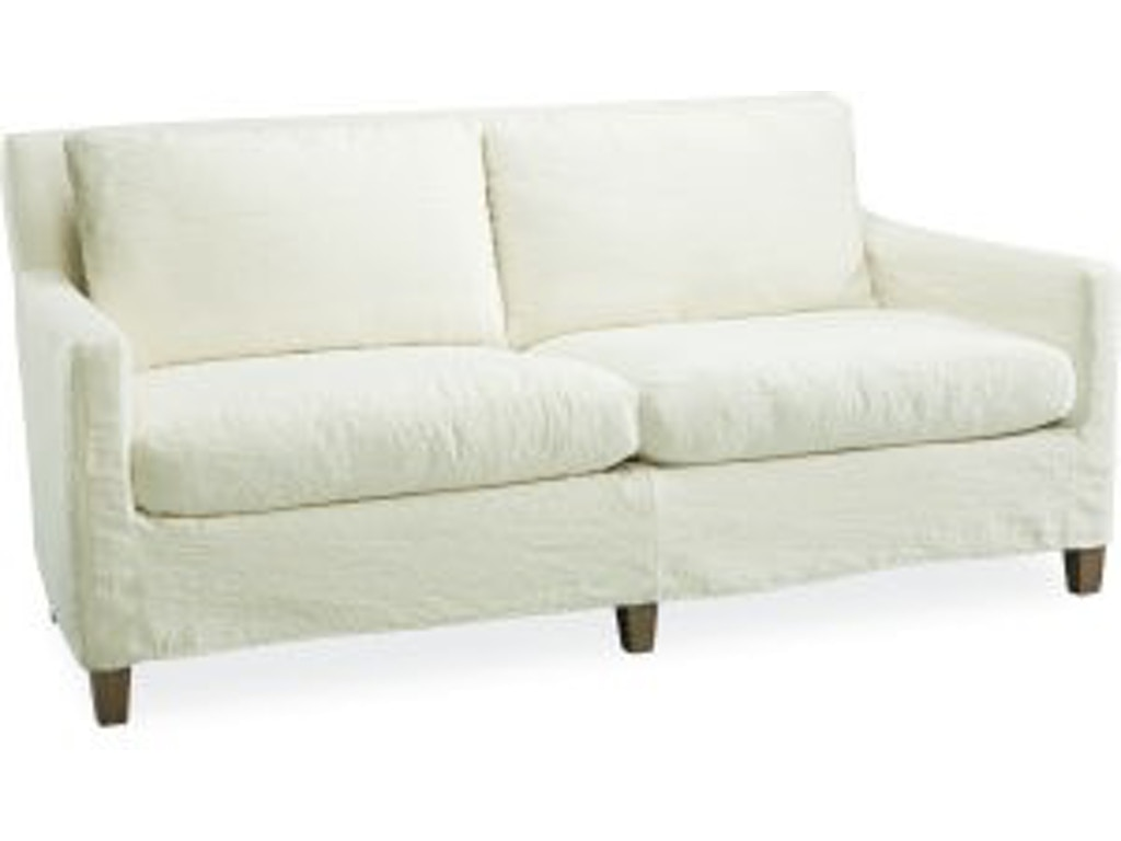 Lee Industries Living Room Slipcovered Apartment Sofa