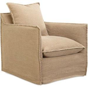 Lee Industries Slipcovered Swivel Chair C1297 01SW