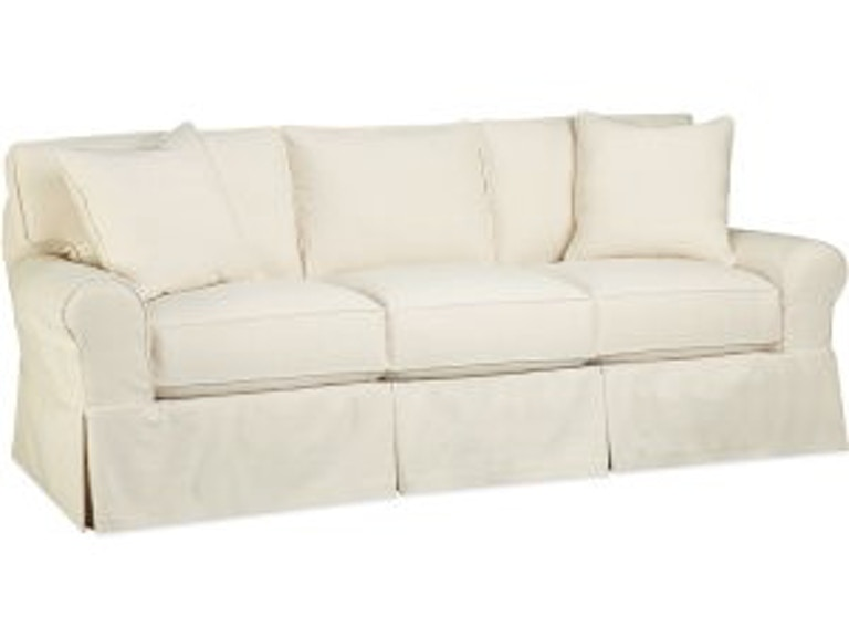 Lee industries living room slipcovered sofa c2375 03 for Sectional sofas in savannah ga