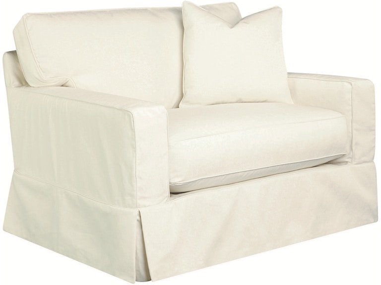 lee industries living room slipcovered chair and a half c5287 16