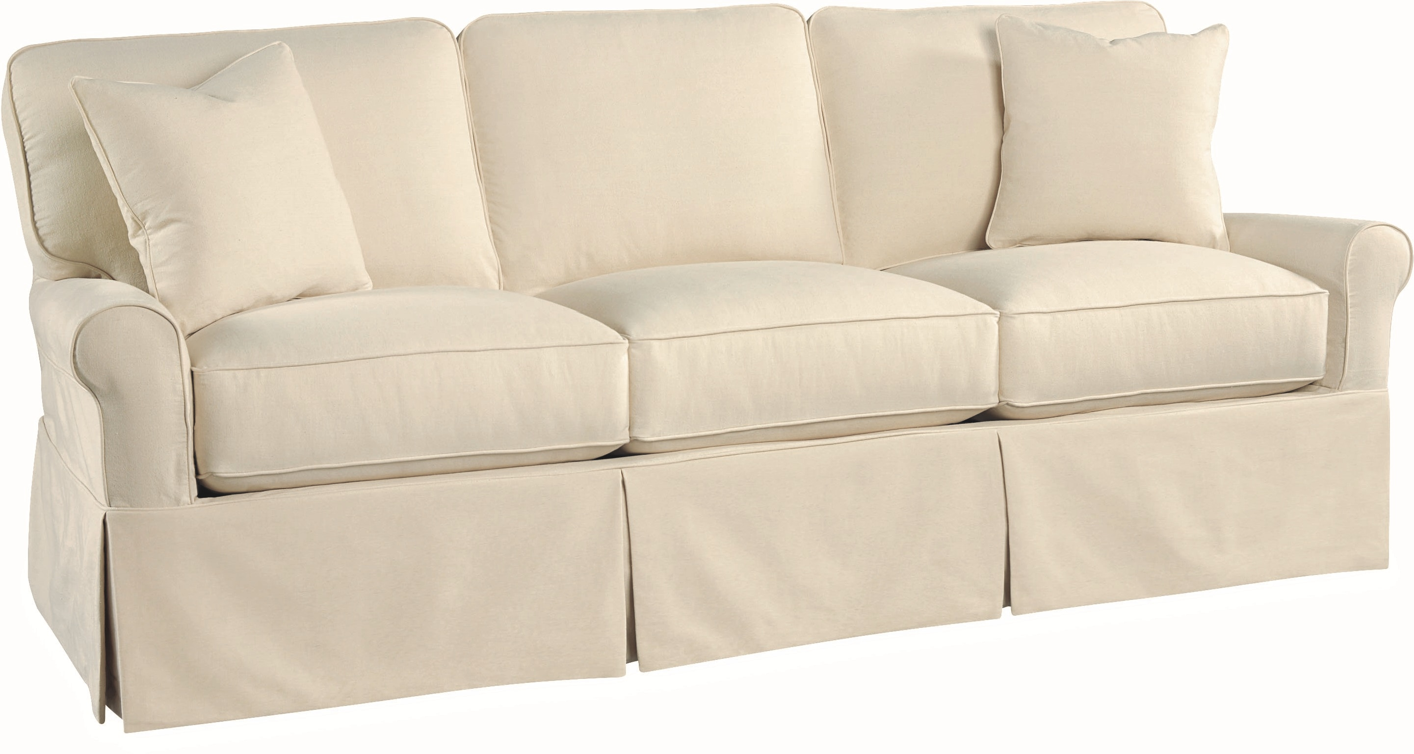 Lee Industries Living Room Slipcovered Sofa C5632 03 Tin