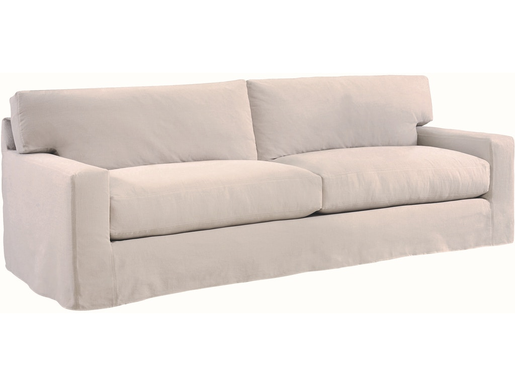 Lee industries living room slipcovered two cushion sofa for Sofa design for hall