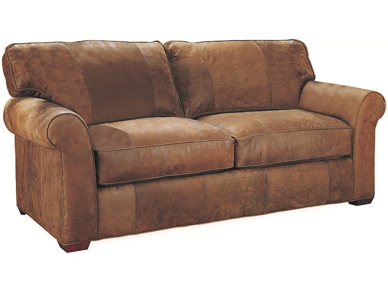 Lee Industries Living Room Leather Apartment Sofa L7117-11 - Klingman\'s