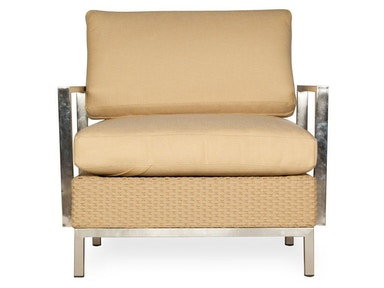Lloyd Flanders Lounge Chair With Stainless Steel Arms