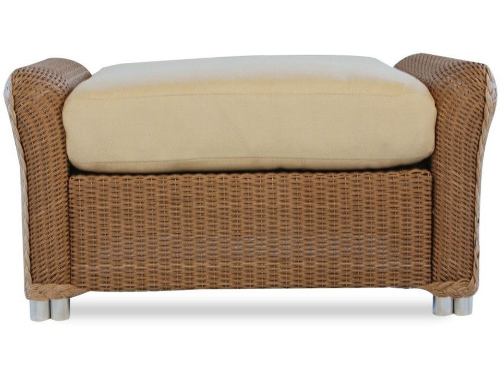 Lloyd flanders outdoor patio ottoman 9017 priba for Outdoor furniture greensboro nc