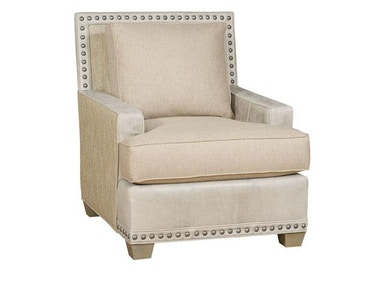 King Hickory Savannah Leather Fabric Chair