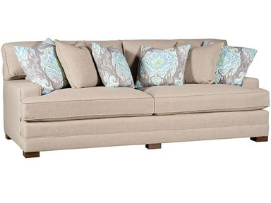 King Hickory Casbah Fabric Sofa With Track Arm, Loose Border Back, Modern Leg, And Fabric