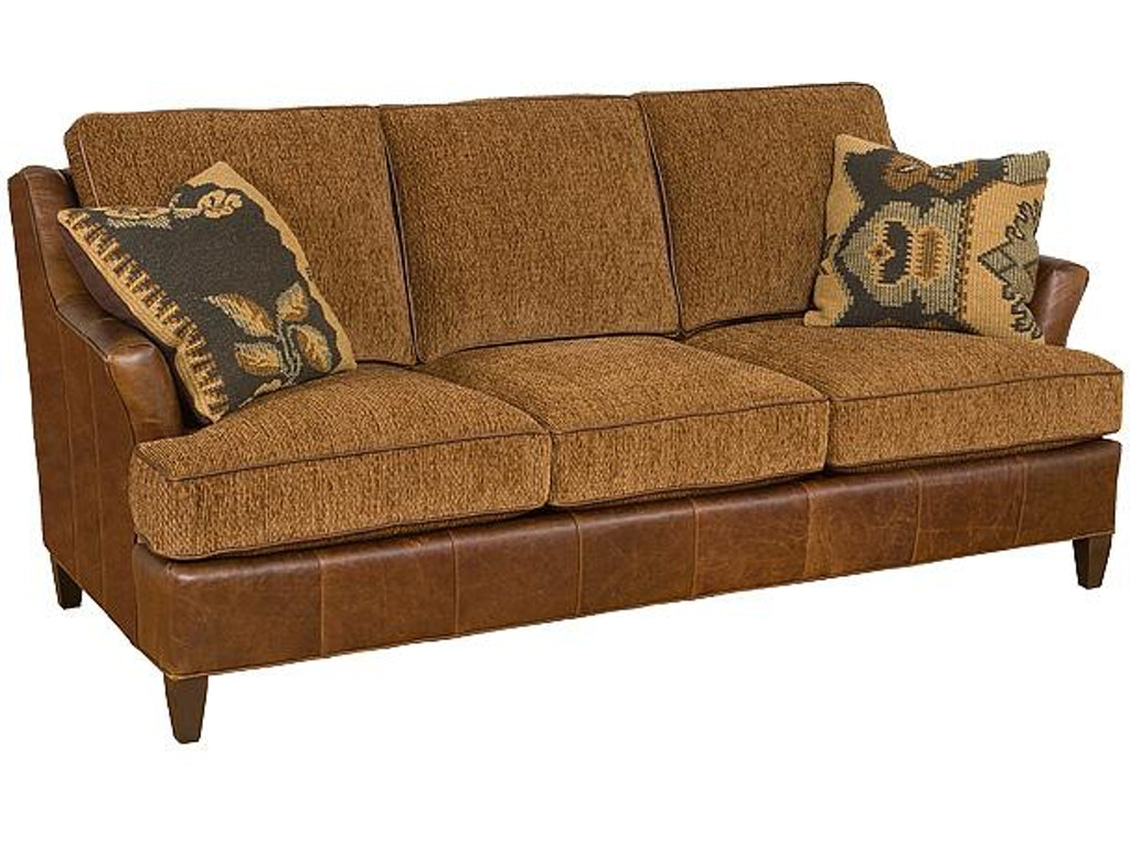 King Hickory Living Room Melrose Leather Fabric Sofa 1450