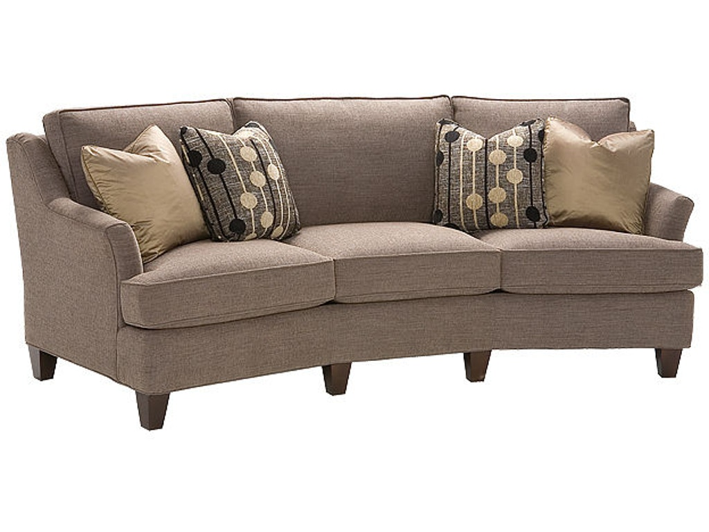 King hickory living room melrose fabric conversation sofa for Conversation sofa