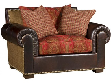 King Hickory Arthur Fabric Chair And Half
