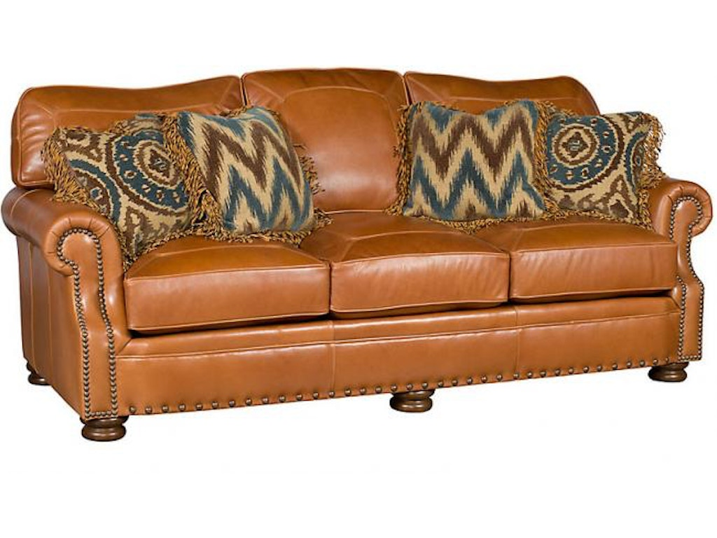 King hickory living room easton leather sofa 1600 l for Quality furniture