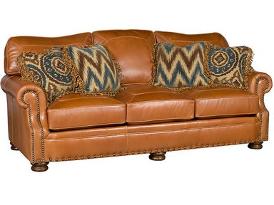 King Hickory Living Room Easton Leather Sofa