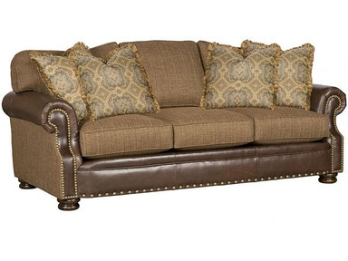 King Hickory Easton Leather/Fabric Sofa 1600-LF