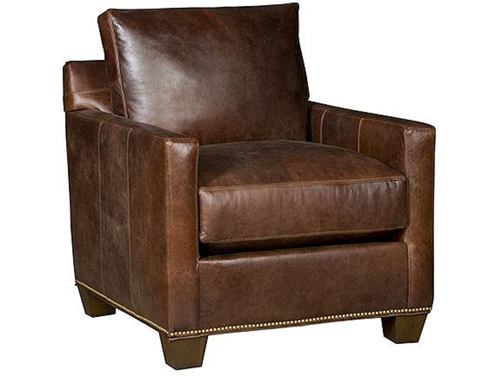 King Hickory Living Room Darby Leather Chair 2201 Tbw L Seville Home Leawood Kansas City