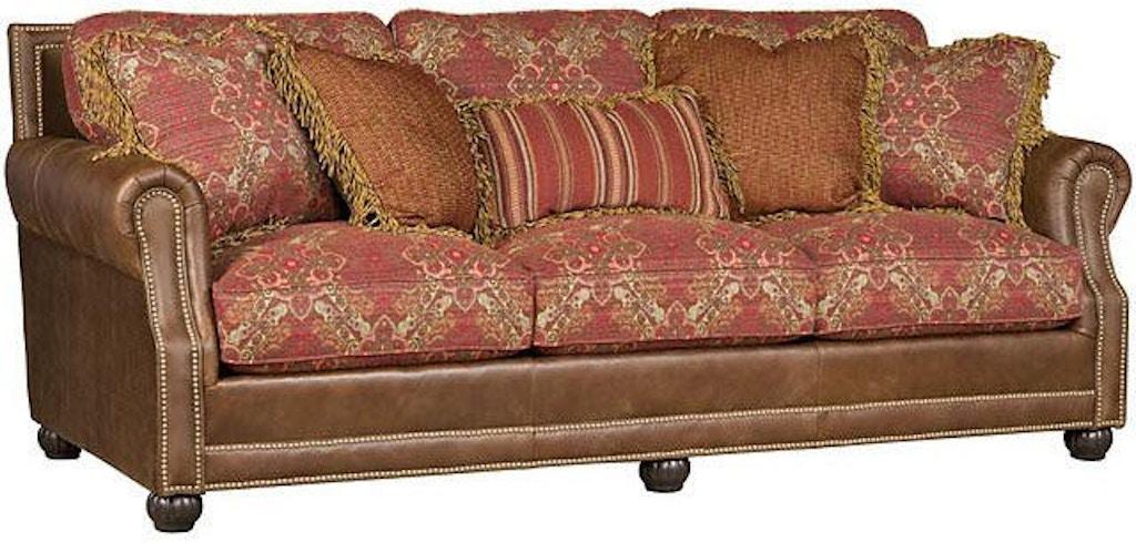 King Hickory Living Room Julianna Leather Fabric Sofa 3000-LF ...