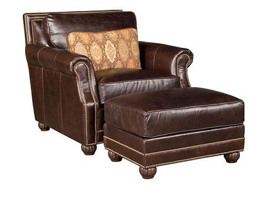 Julianna Leather Ottoman