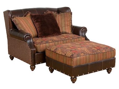 Lucy Fabric/Leather Settee
