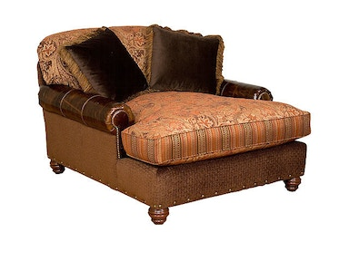 Charlotte Fabric/Leather Chaise and Half
