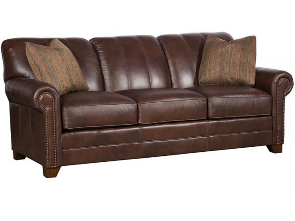 King hickory living room angelina leather sofa 3600 l for Sectional sofa hickory chair