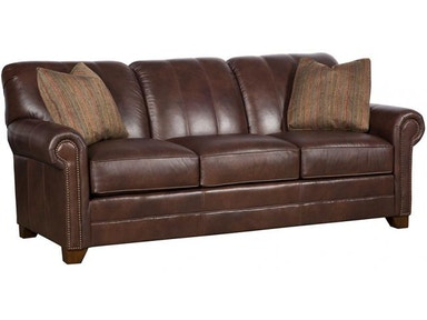 King Hickory Living Room Angelina Leather Sofa