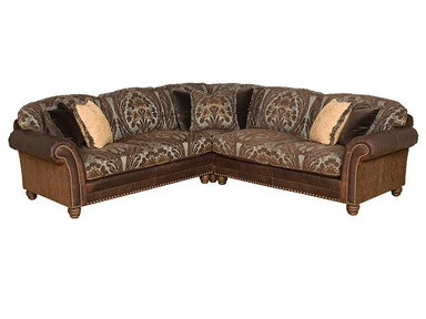 King Hickory Katherine Fabric/Leather Sectional