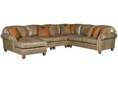 King Hickory Katherine Leather Sectional