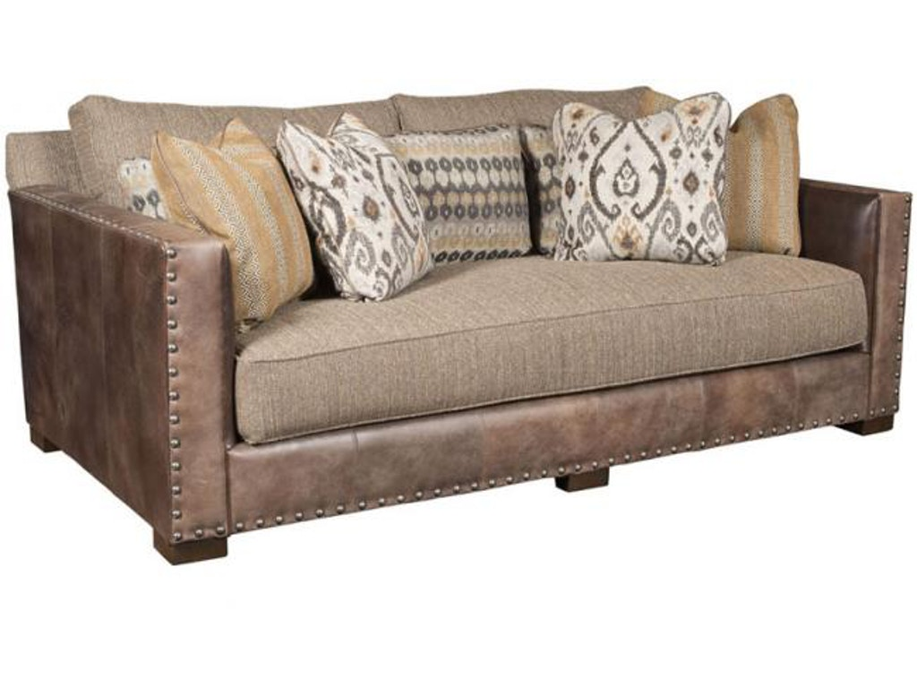 King Hickory Living Room Pacific Leather Fabric Sofa 5000