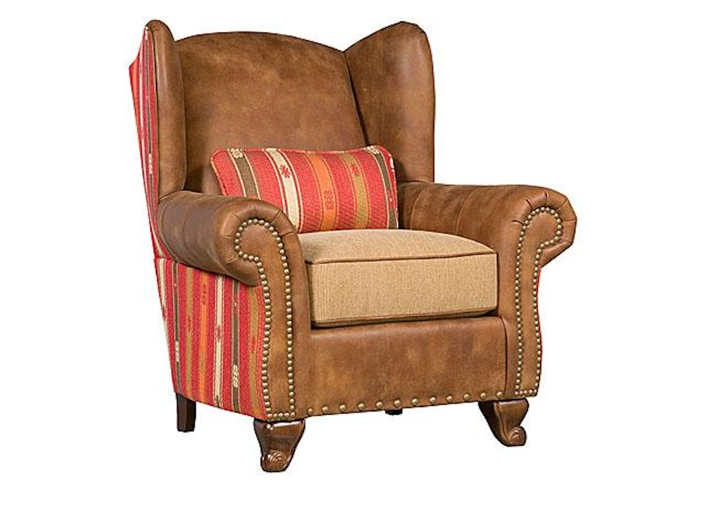 King hickory living room corona leather fabric chair 50571 for Classic furniture new albany in