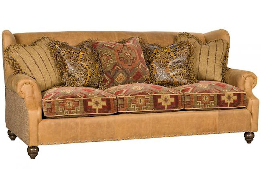King hickory living room lucy leather fabric sofa 5200 lf for North carolina furniture
