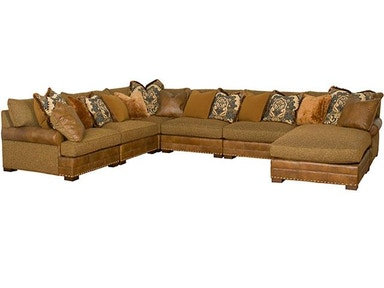 King Hickory Casbah Fabric/Leather Sectional