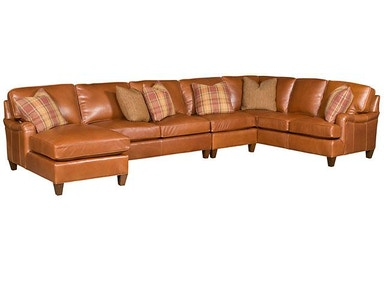 King Hickory Chatham Leather Sectional