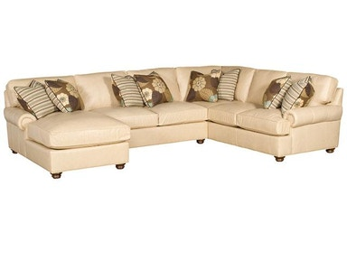 King Hickory Henson Leather Sectional