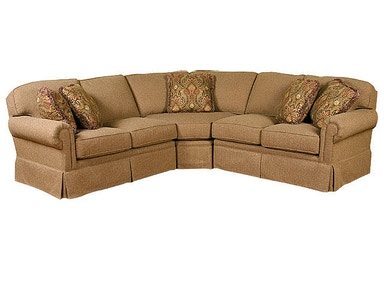 King Hickory Bentley Fabric Sectional