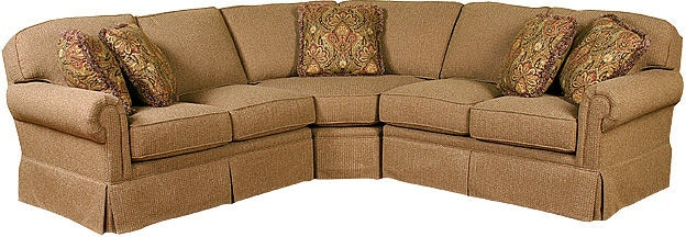 King Hickory Living Room Bentley Fabric Sectional 4400
