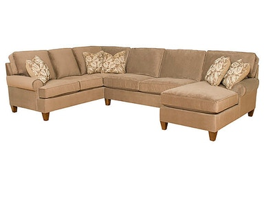 King Hickory Chatham Fabric Sectional