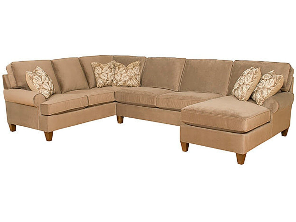 King hickory living room chatham fabric sectional 5900 for Carolina furniture