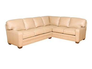 King Hickory Bentley Leather Sectional