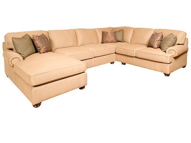 King Hickory Henson Fabric Sectional