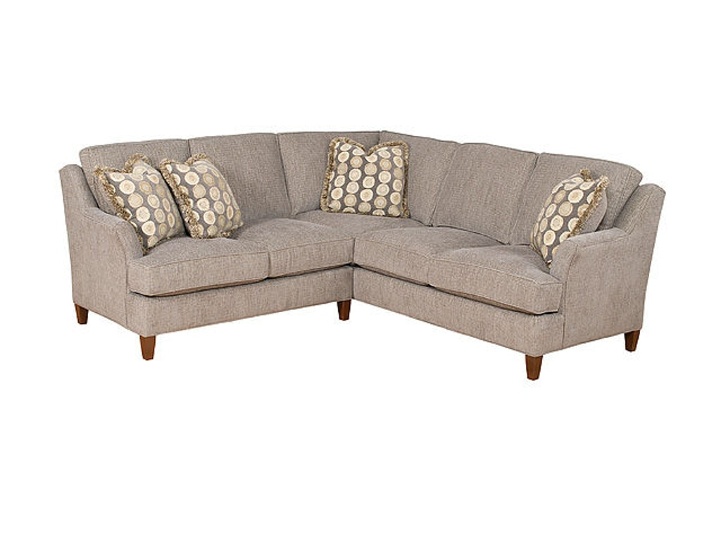 King Hickory Living Room Melrose Fabric Sectional 1400 Sect Brownlee 39 S Furniture