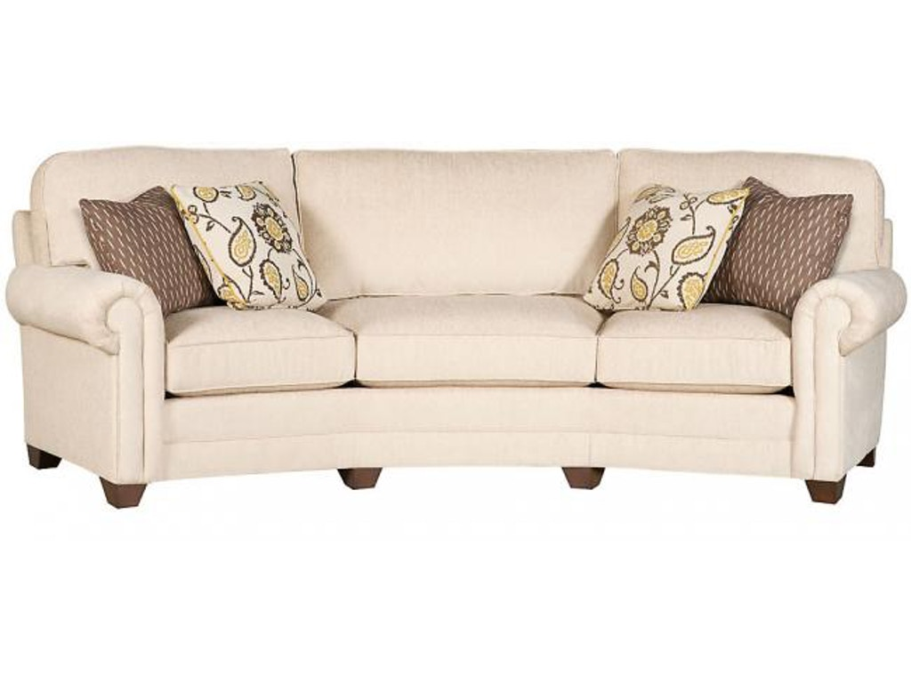 King Hickory Living Room Winston Conversation Sofa With Panel Arm Loose Back Modern Leg And