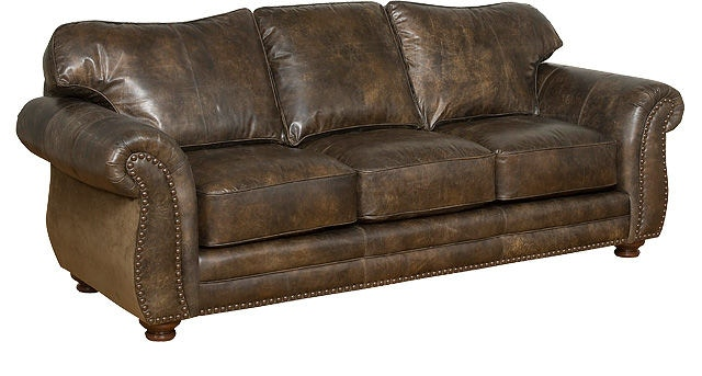 King Hickory Living Room Santana Leather Sofa