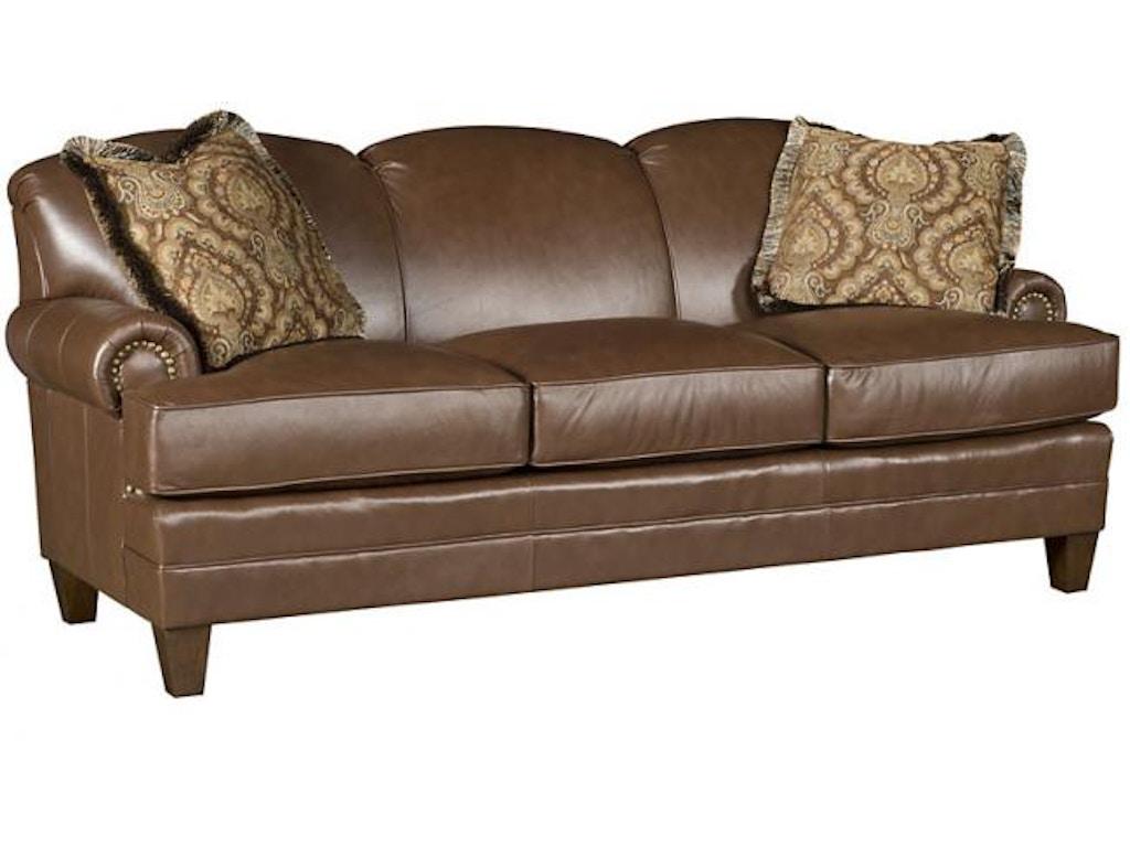 King Hickory Living Room Callie Leather Sofa 5050 L Good