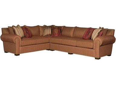 King Hickory Arthur Leather Sectional