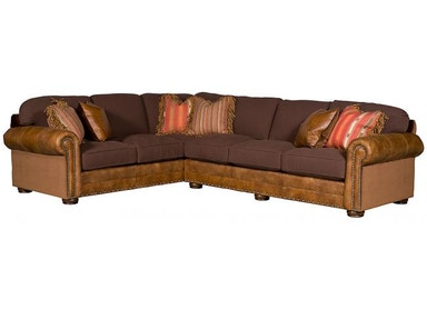 King Hickory Ricardo Leather/Fabric Sectional