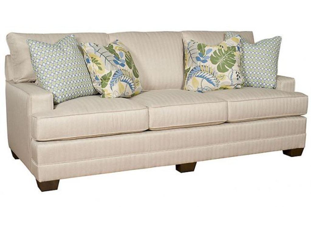 King Hickory Living Room Highland Park Sofa With Panel Arm