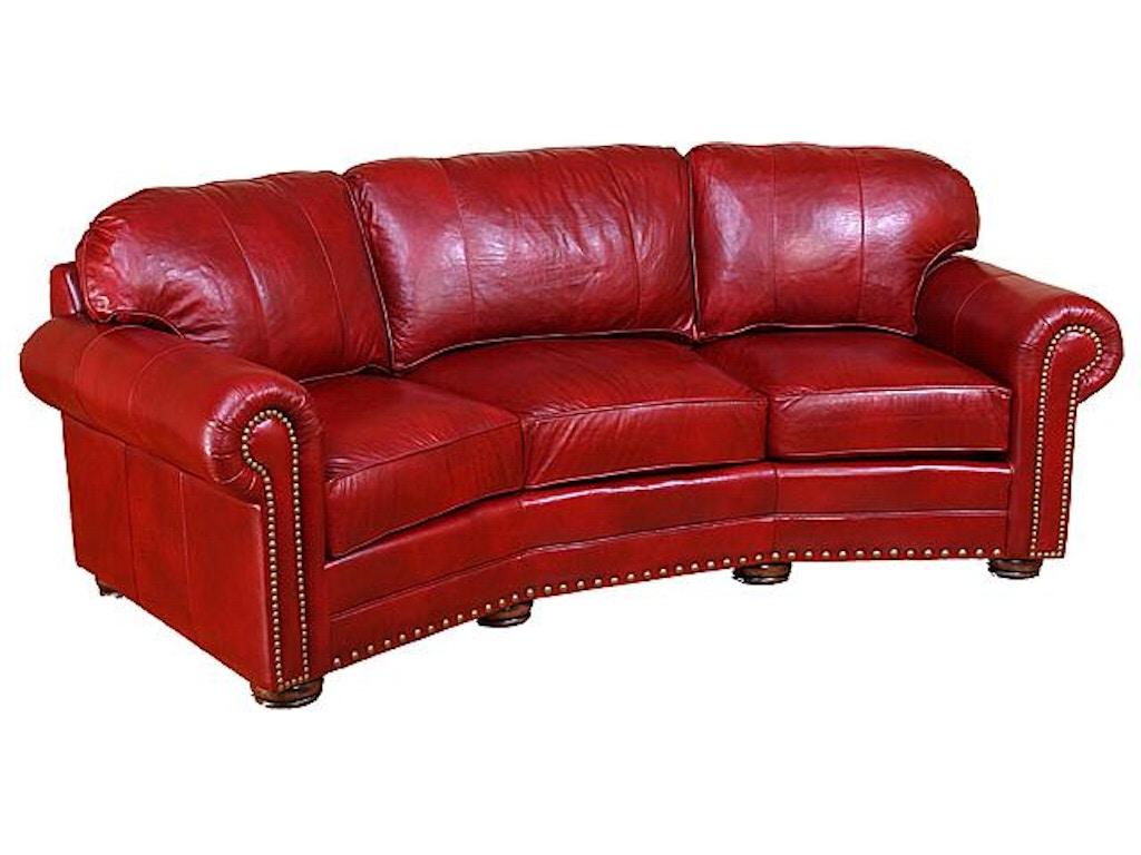 King Hickory Living Room Ricardo Leather Conversation Sofa ...