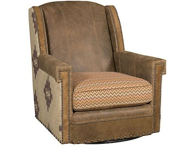 Mustang Leather/Fabric Swivel Chair