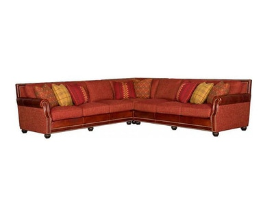 King Hickory Julianna Fabric/Leather Sectional