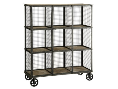 Crestview Industria Metal And Wood Bookcase CVFZR1004