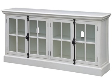 Crestview Coventry White Oak Finish 4 Door Media Console CVFZR2208